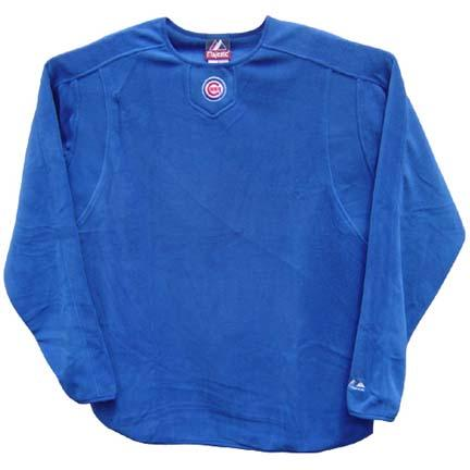 "Chicago Cubs MLB Authentic Collection ""Tech Fleece"" Pullover (Royal 2X-Large) by Majestic Athletic"