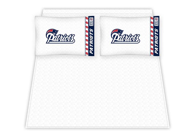 New England Patriots Queen Bed Sheets