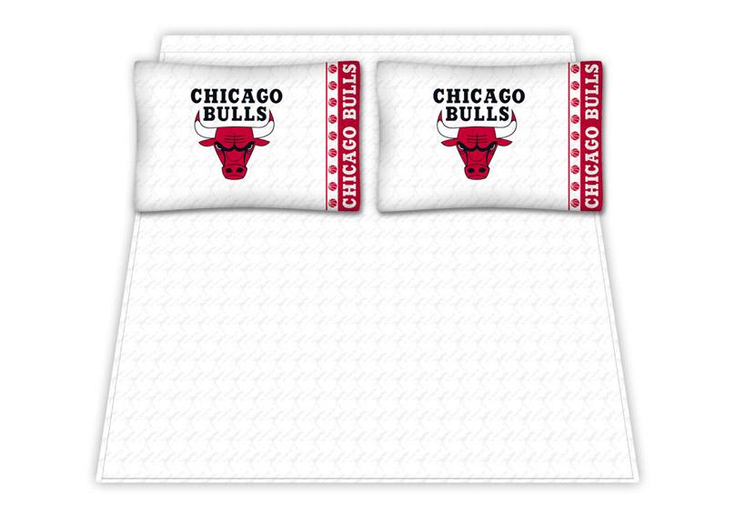 Chicago Bulls Micro Fiber Queen Sheet Set By Kentex