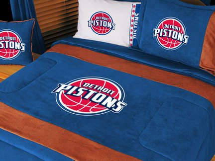 """Detroit Pistons MicroSuede Twin Comforter from """"The MVP Collection"""" by Kentex"""
