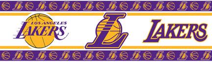"Los Angeles Lakers 5"" x 15' NBA Wall Border from Kentex"
