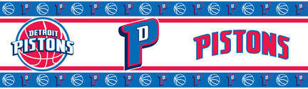 "Detroit Pistons 5"" x 15' NBA Wall Border from Kentex"
