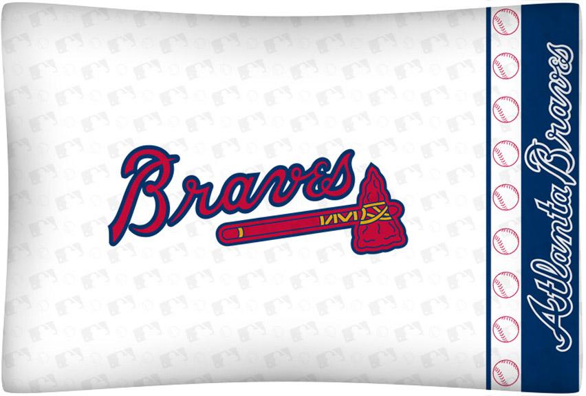 Atlanta Braves Micro Fiber Standard Pillow Case from Kentex