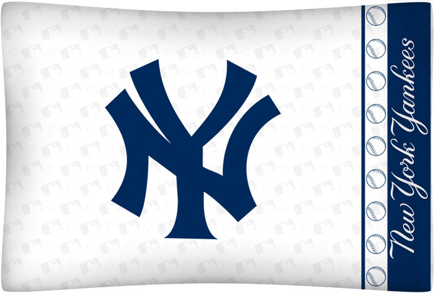 New York Yankees Micro Fiber Standard Pillow Case From Kentex