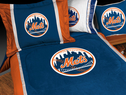 "New York Mets MicroSuede Full / Queen Comforter from ""The MVP Collection"" by Kentex"