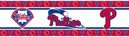 "Philadelphia Phillies 5"" x 15' MLB Wall Border from Kentex"