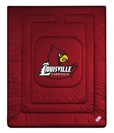 "Louisville Cardinals Jersey Mesh Full/Queen Comforter from ""The Locker Room Collection"" by Kentex"