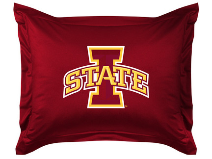 """Iowa State Cyclones Coordinating Pillow Sham from """"The Locker Room Collection"""" by Kentex"""