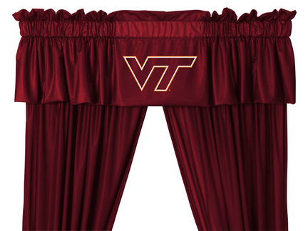 Virginia Tech Hokies Coordinating Valance for the Locker Room or Sidelines Collection by Kentex