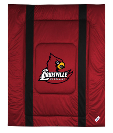 "Louisville Cardinals Jersey Mesh Full / Queen Comforter from ""The Sidelines Collection"" by Kentex"