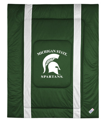"Michigan State Spartans Jersey Mesh Full / Queen Comforter from ""The Sidelines Collection"" by Kentex"