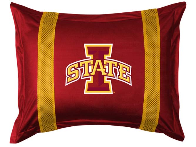 """Iowa State Cyclones Pillow Sham from """"The Sidelines Collection"""" by Kentex"""