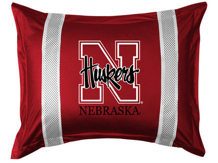 """Nebraska Cornhuskers Pillow Sham from """"The Sidelines Collection"""" by Kentex"""