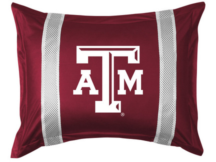 Texas A & M Aggies Pillow Sham from 'The Sidelines Collection' by Kentex
