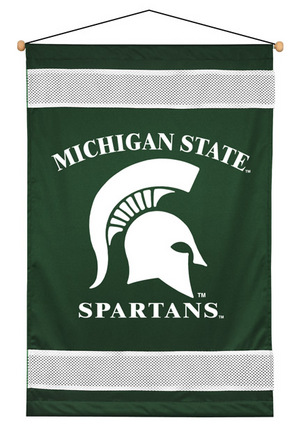 "Michigan State Spartans 29.5"" x 45"" Coordinating NCAA ""Sidelines Collection"" Wall Hanging from Kente"