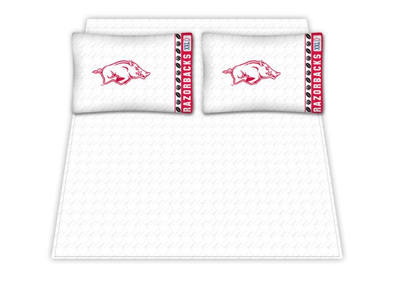 Arkansas Razorbacks Micro Fiber Queen Sheet Set By Kentex