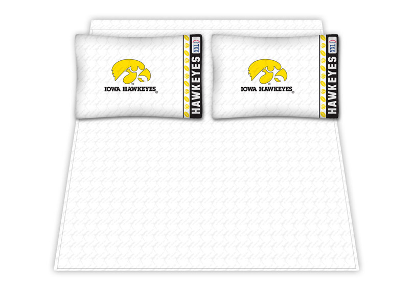 Iowa Hawkeyes Micro Fiber Full Sheet Set by Kentex KEN-04MFSHS4IAUFULL