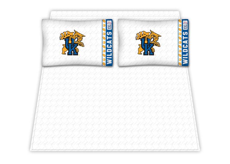 Kentucky Wildcats Micro Fiber Full Sheet Set by Kentex KEN-04MFSHS4KYUFULL