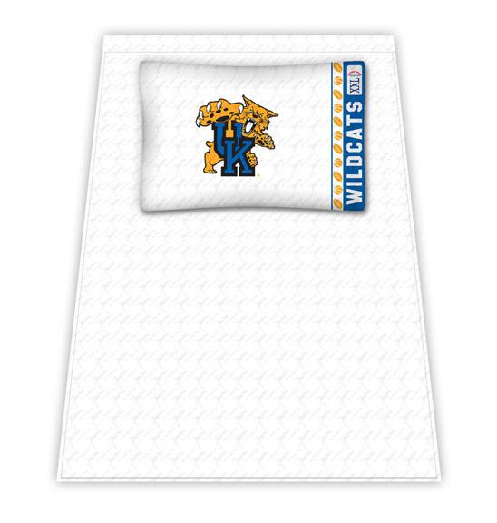 Kentucky Wildcats Micro Fiber Twin Sheet Set by Kentex KEN-04MFSHS4KYUTWIN