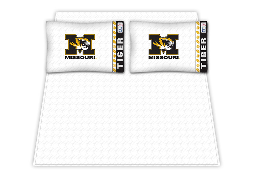 Missouri Tigers Micro Fiber Full Sheet Set by Kentex KEN-04MFSHS4MOCFULL