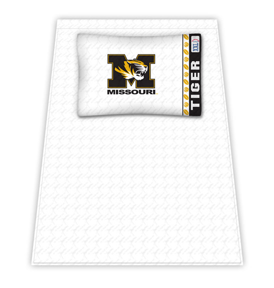 Missouri Tigers Micro Fiber Twin Sheet Set by Kentex KEN-04MFSHS4MOCTWIN