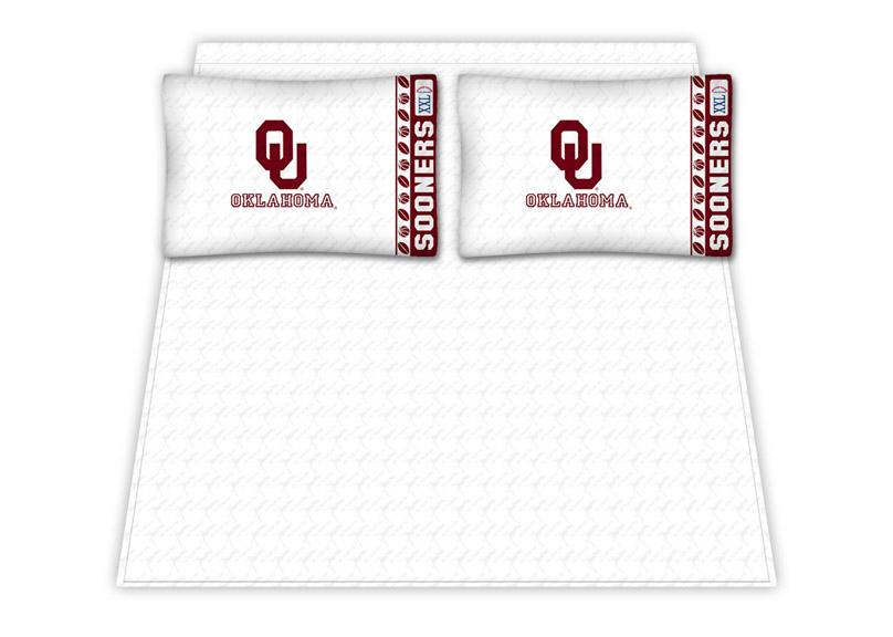 Oklahoma Sooners Micro Fiber Full Sheet Set by Kentex KEN-04MFSHS4OKUFULL