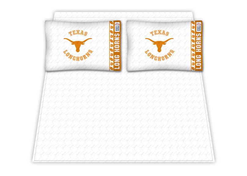 Texas Longhorns Micro Fiber Full Sheet Set by Kentex KEN-04MFSHS4TXUFULL