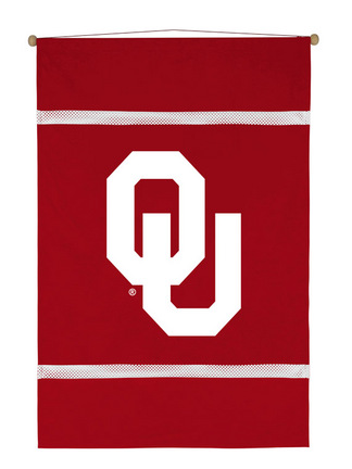 "Oklahoma Sooners 28"""" x 45"""" Coordinating NCAA """"MVP Collection"""" Wall Hanging from Kentex"" KEN-04MSWHG4OKU2845"