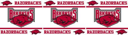 "Arkansas Razorbacks 5"" x 15' Wall Border from Kentex"