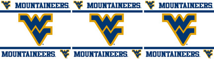 "West Virginia Mountaineers 5"" x 15' Wall Border from Kentex"