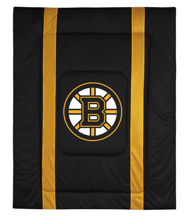"""Boston Bruins Jersey Mesh Full/Queen Comforter from """"The Sidelines Collection"""" by Kentex"""