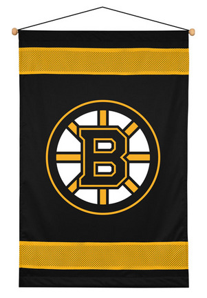 """Boston Bruins 29.5"""" x 45"""" Coordinating NHL """"Sidelines Collection"""" Wall Hanging from Kentex"""