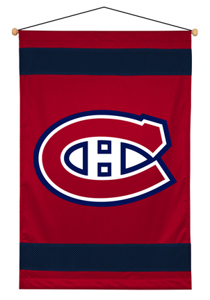 "Montreal Canadiens 29.5"" x 45"" Coordinating NHL ""Sidelines Collection"" Wall Hanging from Kentex"