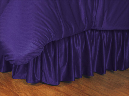 """Los Angeles Lakers Coordinating Queen Bedskirt for """"The Sidelines Collection"""" by Kentex"""