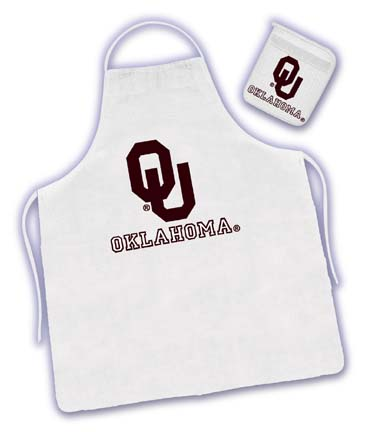 Oklahoma Sooners Tailgater Apron / Mitt Set by Kentex