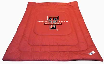 """Texas Tech Red Raiders Jersey Mesh Full/Queen Comforter from """"The Locker Room Collection"""" by Kentex"""