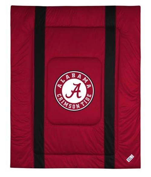 "Alabama Crimson Tide Jersey Mesh Full / Queen Comforter from ""The Sidelines Collection"" by Kentex"