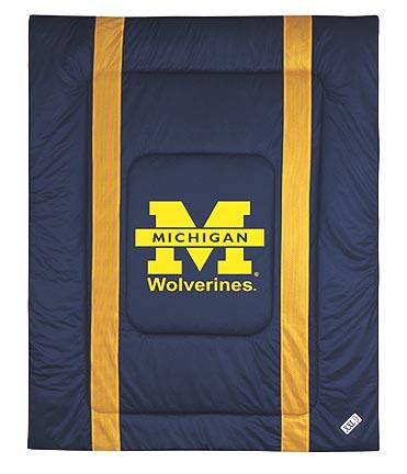 """Michigan Wolverines Jersey Mesh Full / Queen Comforter from """"The Sidelines Collection"""" by Kentex"""