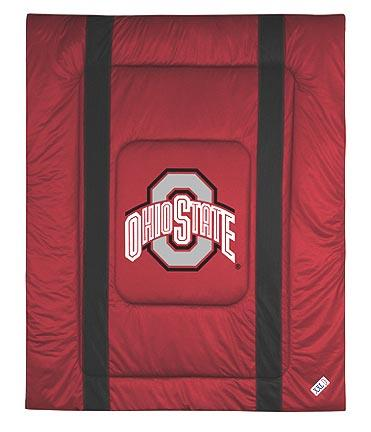 """Ohio State Buckeyes Jersey Mesh Full / Queen Comforter from """"The Sidelines Collection"""" by Kentex"""