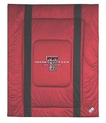 """Texas Tech Red Raiders Jersey Mesh Full / Queen Comforter from """"The Sidelines Collection"""" by Kentex"""