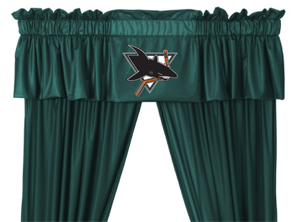 San Jose Sharks Coordinating Ruffled Valance by Kentex