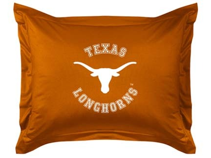 """Texas Longhorns Coordinating Pillow Sham from """"The Locker Room Collection"""" by Kentex"""