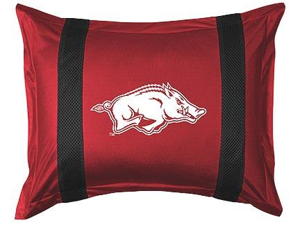 """Arkansas Razorbacks Pillow Sham from """"The Sidelines Collection"""" by Kentex"""