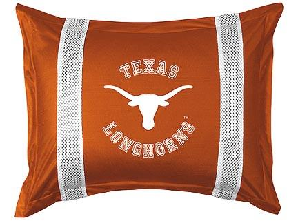 Texas Longhorns Pillow Sham from 'The Sidelines Collection' by Kentex
