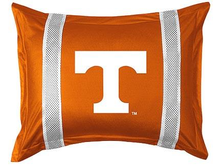 "Tennessee Volunteers Pillow Sham from ""The Sidelines Collection"" by Kentex"