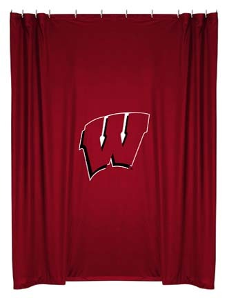 Wisconsin Badgers Shower Curtain by Kentex