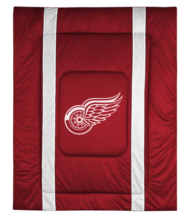 """Detroit Red Wings Jersey Mesh Twin Comforter from """"The Sidelines Collection"""" by Kentex"""