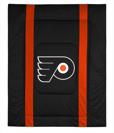 """Philadelphia Flyers Jersey Mesh Full/Queen Comforter from """"The Sidelines Collection"""" by Kentex"""
