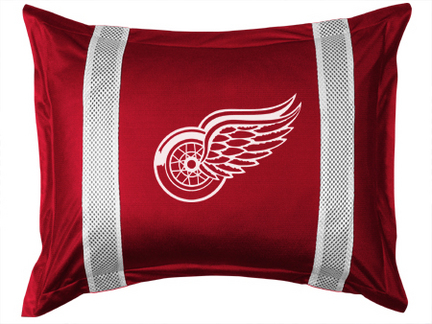 """Detroit Red Wings Coordinating Pillow Sham from """"The Sidelines Collection"""" by Kentex"""