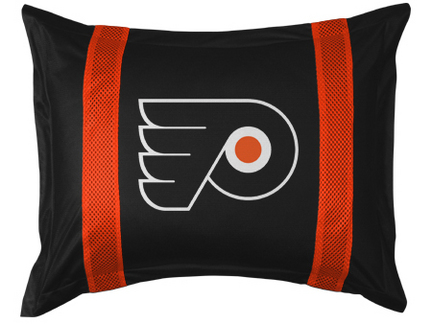 """Philadelphia Flyers Coordinating Pillow Sham from """"The Sidelines Collection"""" by Kentex"""